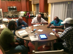 Mens fellowship sit down in the Word