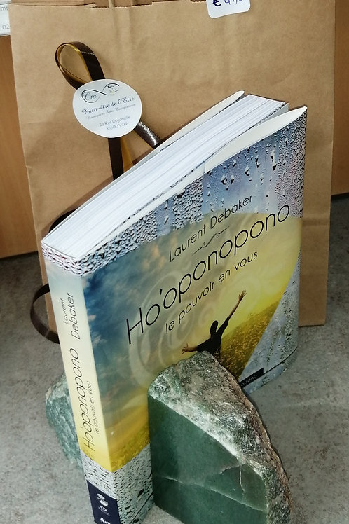 Serre livres Aventurine et livre Ho'oponopono