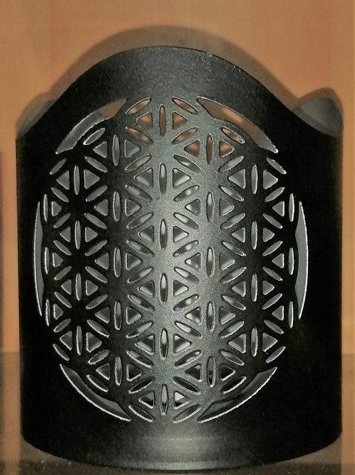 Photophore métal fleur de vie