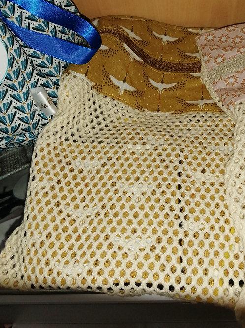 Filet de lavage avec 5 cotons bambou