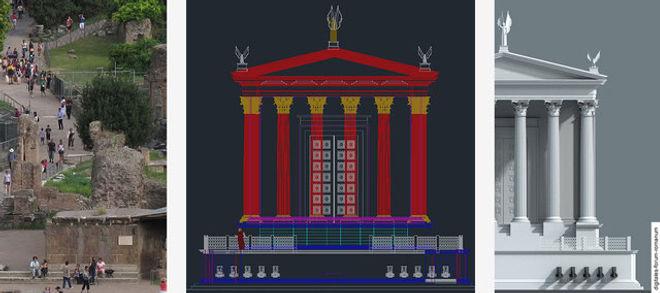 digitale Simulation von urbanen Orten Forum Romanum Rethinking the city