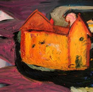 Haus, 2009, oil on wooden panel, 45x55cm