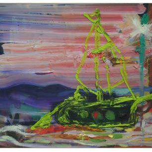 Schiff, 2014, oil on wooden panel, 32x40cm