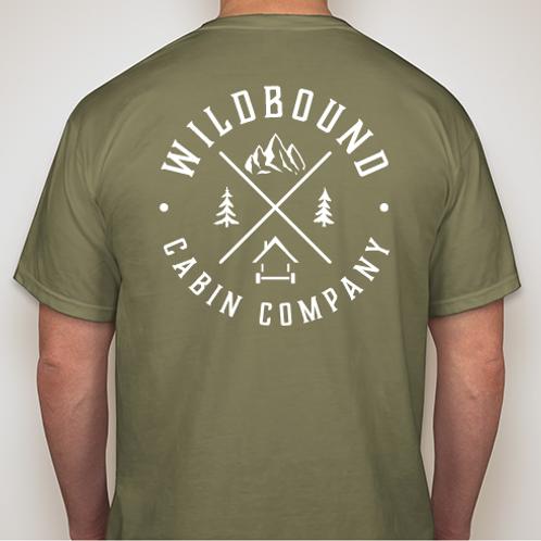 Wildbound Cabin Company Logo Premium T-shirt - Hemp Green