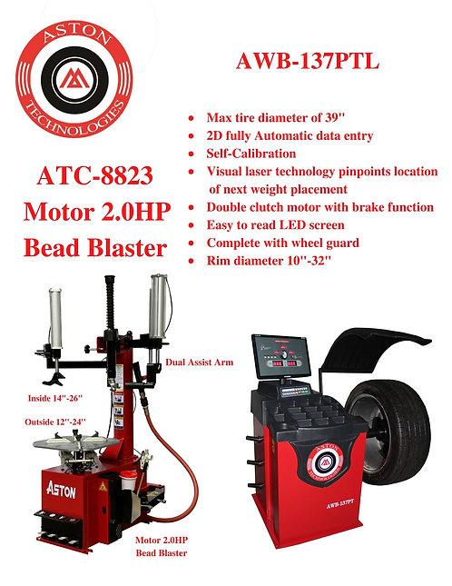 Tire Changers and Wheel Balancers Combo: ATC-8823 & AWB-137PTL