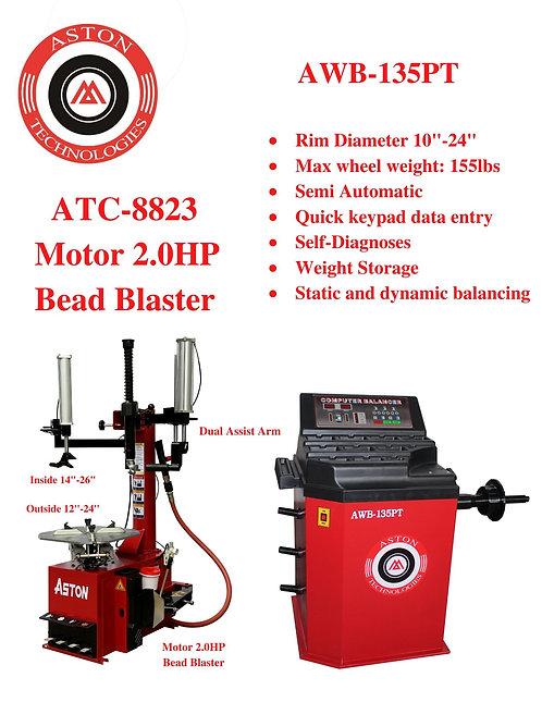Tire Changers and Wheel Balancers Combo: ATC-8823 & AWB-135PT