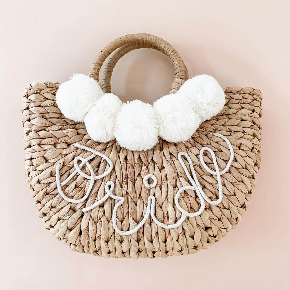 Trendy bride bag is a perfect engagement present.