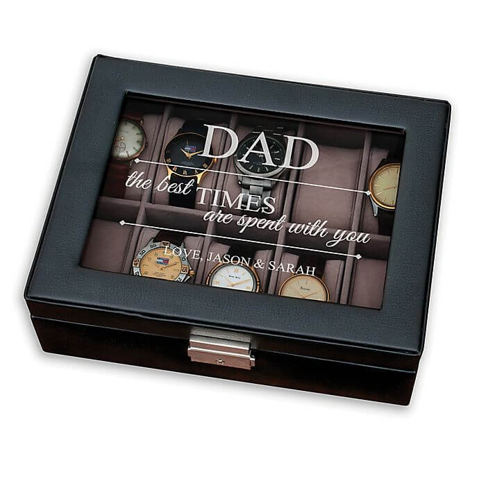 A watch case as father's day present.