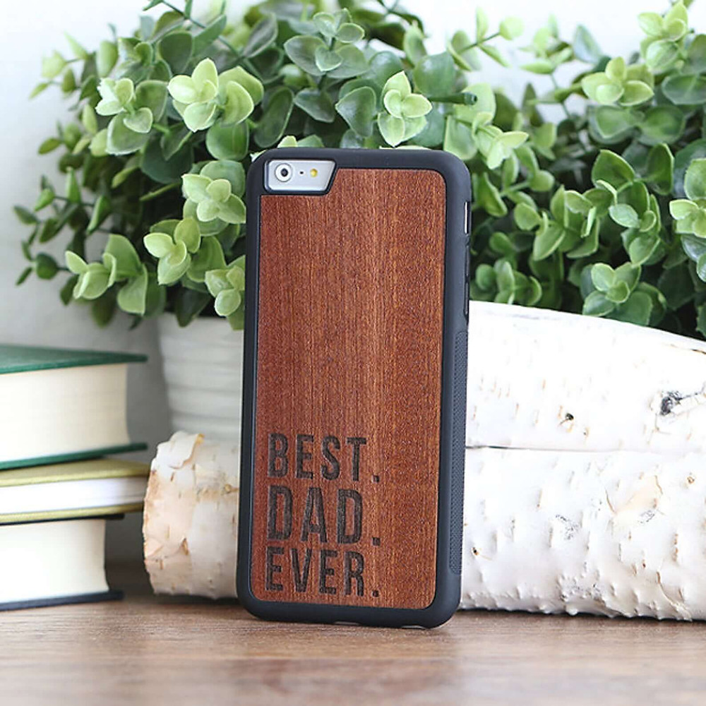 Personalized phone case for father's day present.