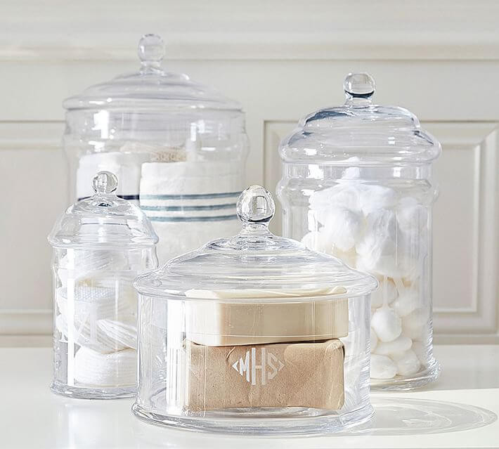 Amazing idea for an engagement gift, bath canisters.