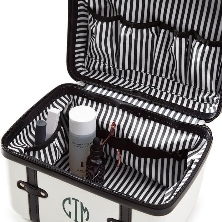 Vanity case is the best engagement gift who loves to travel.