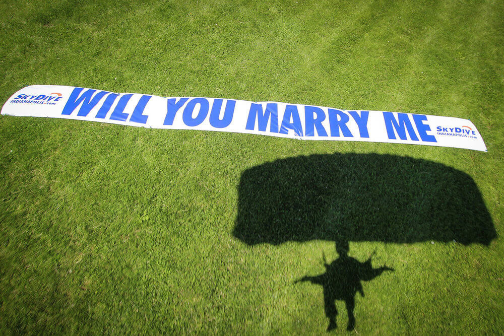 Most adventurous proposal idea.