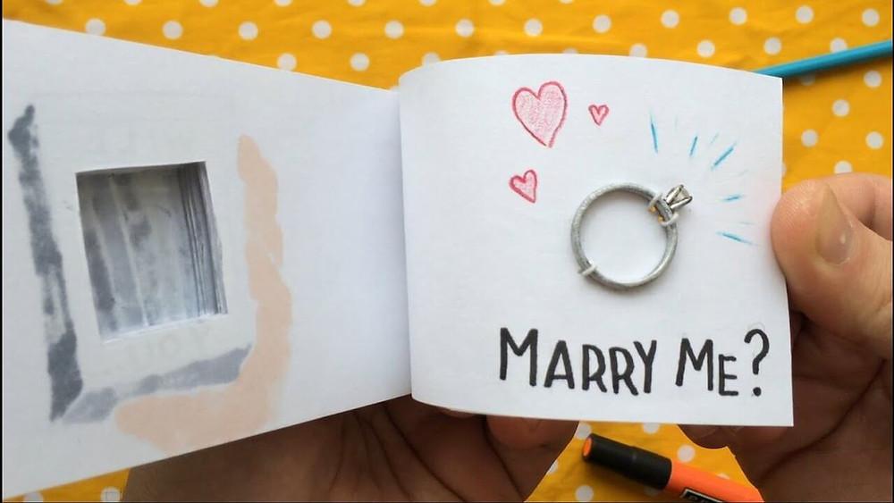 Best way to propose with crafty streak.