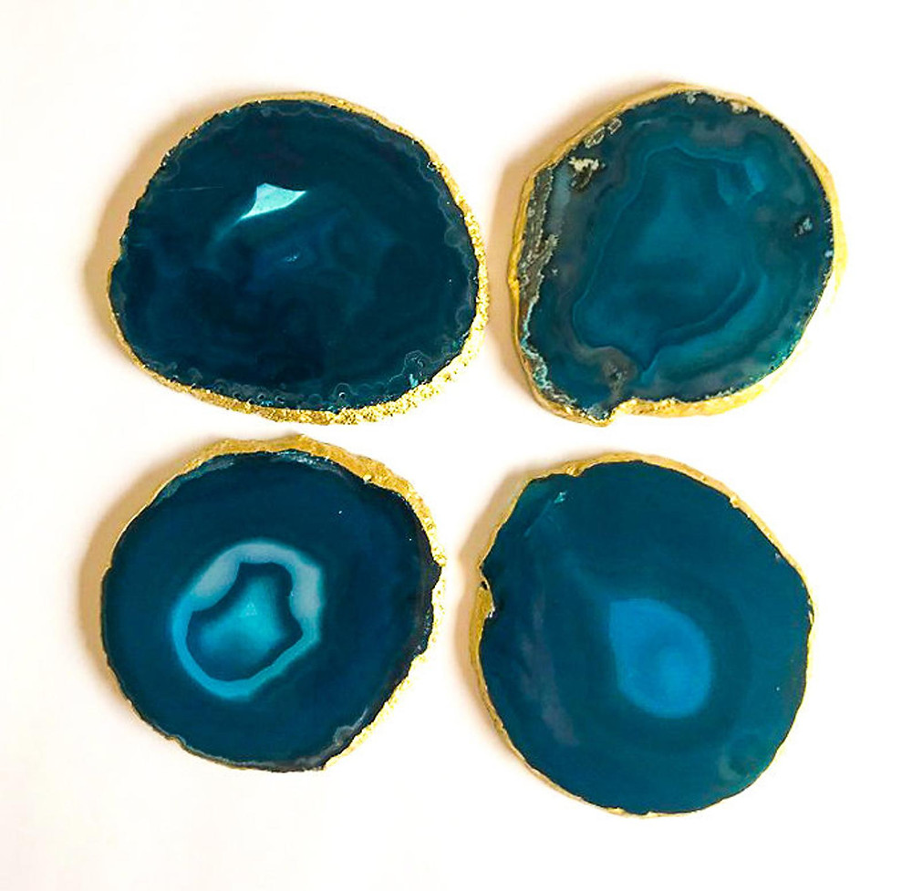 These Agate Stone Coasters are the best secret santa gifts under $30