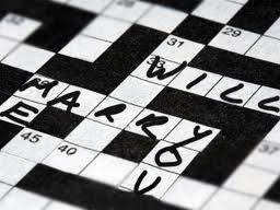 Crossword wedding proposal idea.