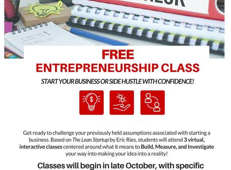 Coming in November: Entrepreneurship Class