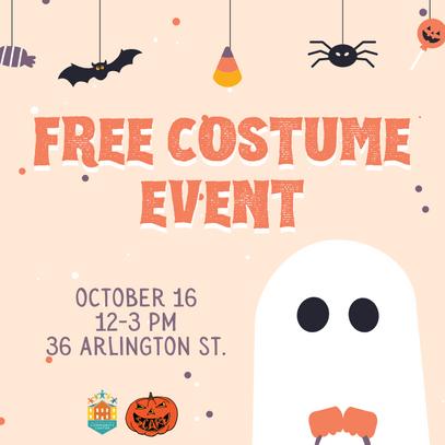 Free Halloween Costume Distribution Event: 10/16