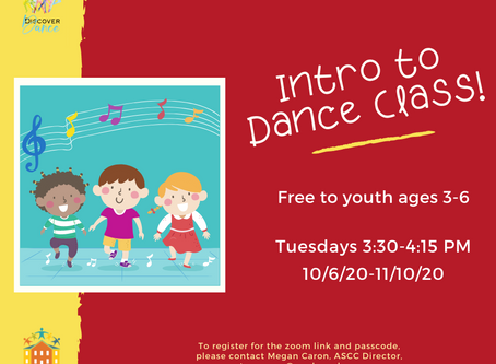 Intro to Dance Class: Ages 3-6