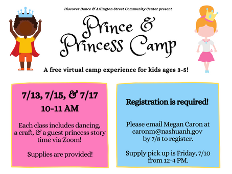 Now Registering for Prince & Princess Camp!
