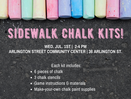 7/1 To-Go Kit: Sidewalk Chalk Activities!