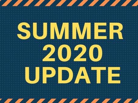 Summer 2020 Update