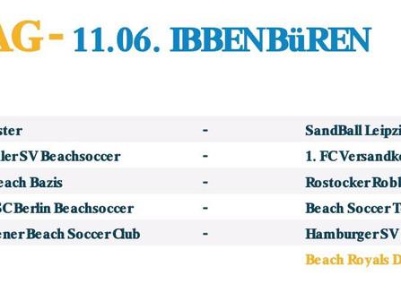 Spielplan für die German Beach Soccer League 2017 in Ibbenbüren // SPITZENDUELL GEGEN DIE ROSTOCKER