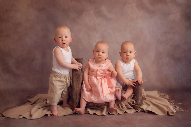 The Davey Triplets - North Brisbane Family Photographer