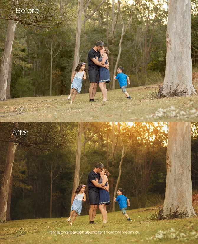 Before and After Edits - Brisbane Family Photographer