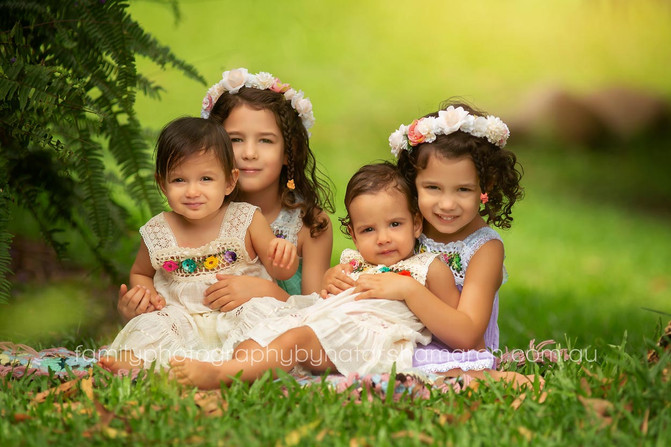 Four Sweet Sisters - North Brisbane Family Photographer