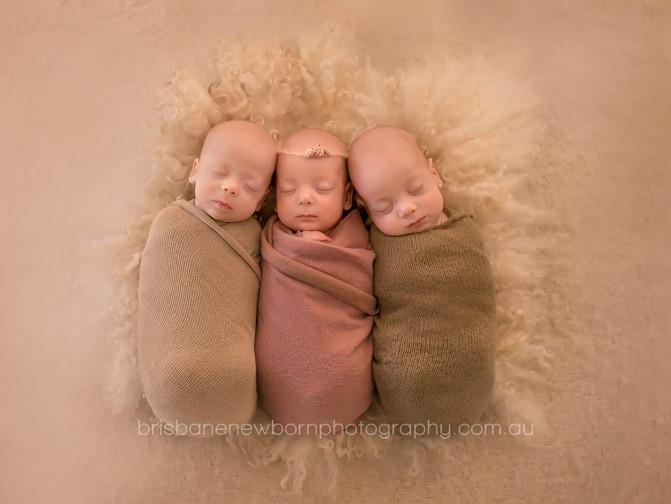 Davey Triplets - Brisbane Newborn Photographer