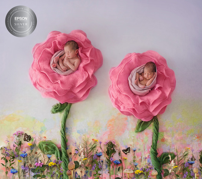 Yasmin and Lulu Twin Girls - Brisbane Newborn Photographer