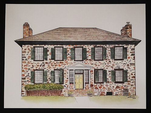 Ermatinger Clergue House Print - by Amy Williams