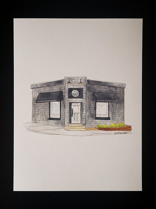 East Street Pizza Company Print - by Amy Williams