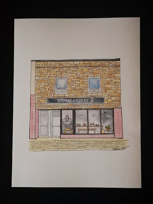Shabby Motley Handcraft Print - by Amy Williams