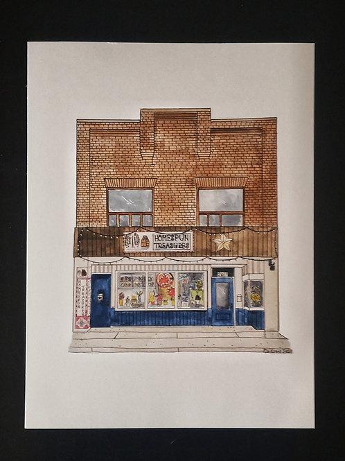 Homespun Treasures Print - by Amy Williams