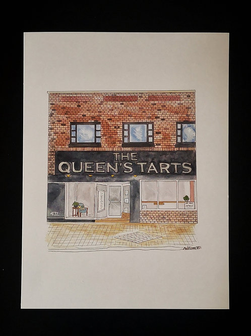 The Queen's Tarts Print- by Amy Williams
