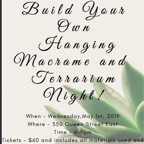 Build Your Own Hanging Macrame Basket and Terrarium Night! (1)