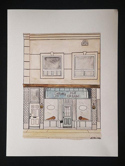 Elliot's Ice Cream Print- by Amy Williams