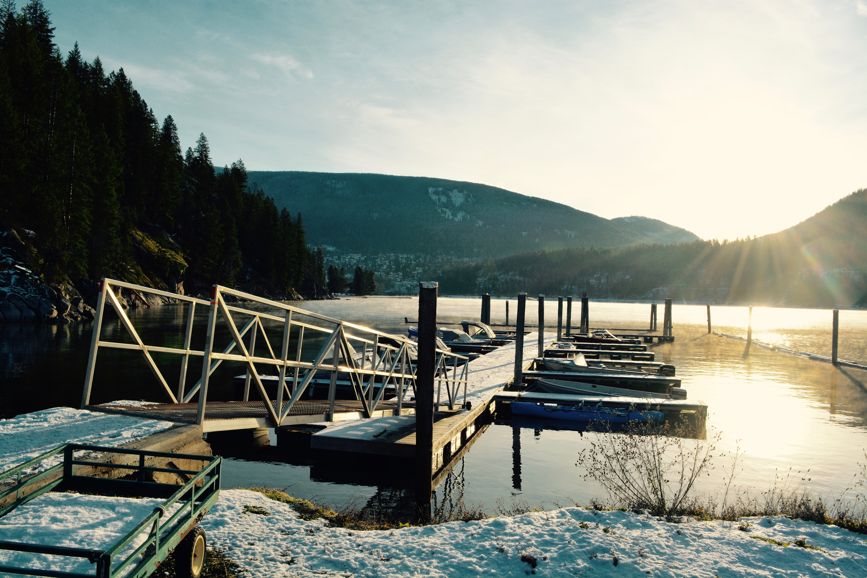 Dock in winter