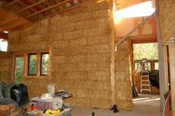 Straw bale construction