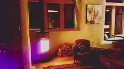 Wood stove in the Evening