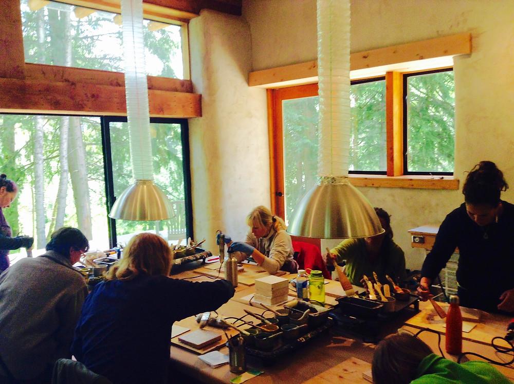 Adult encaustic workshop.