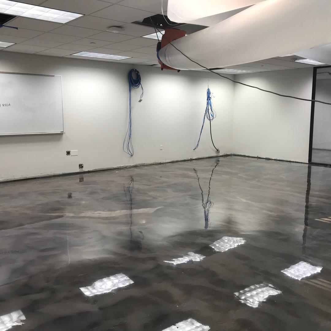 Epoxy over concrete flooring.