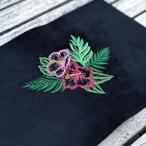 Coupon brodé ~ Hibiscus