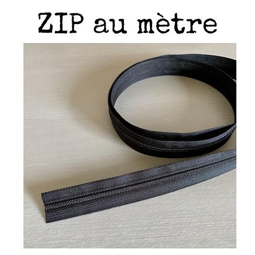 ZIP au mètre YKK - Noir