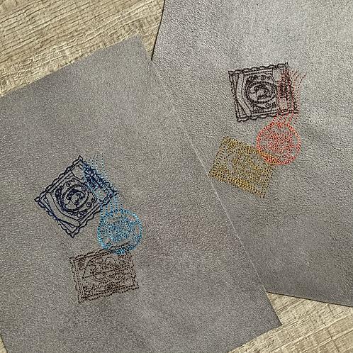 Coupon brodé ~ timbres