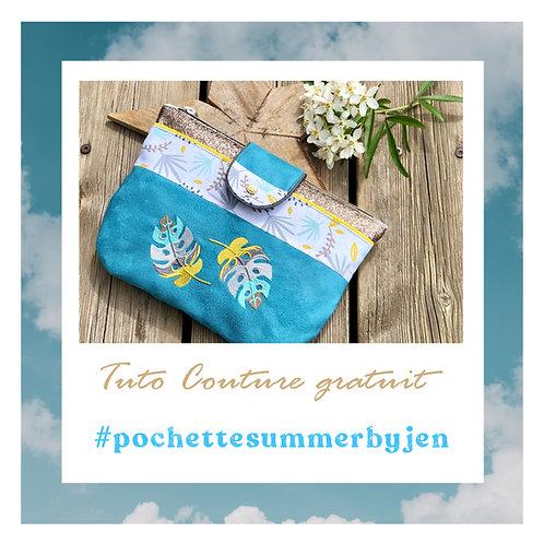 Tuto Couture gratuit : La Pochette Summer !