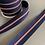 Thumbnail: Zip au mètre 5 mm - Rouge/bleu nuit