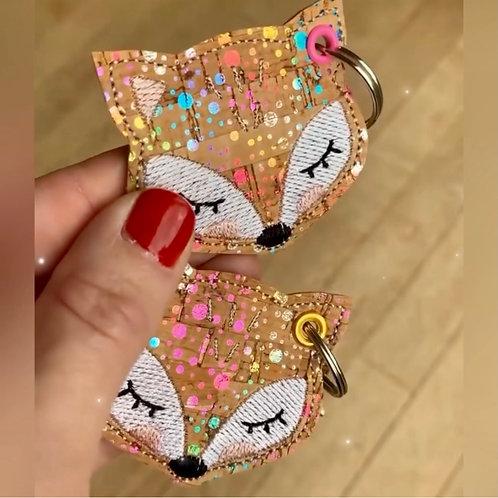 Porte- clés ~ Fox liège coloré