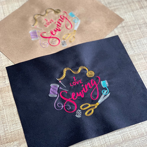 Coupon brodé ~ I love Sewing